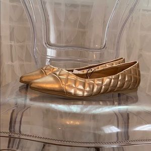 Quilted Gold Flats